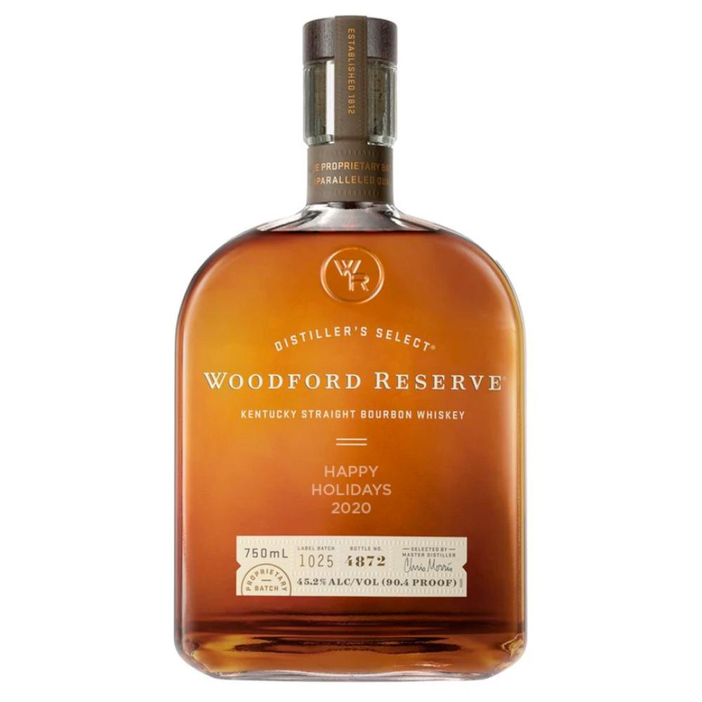 "Woodford Reserve Limited Edition ""Happy Holidays 2020"" Engraved Bottle Bourbon Woodford Reserve"