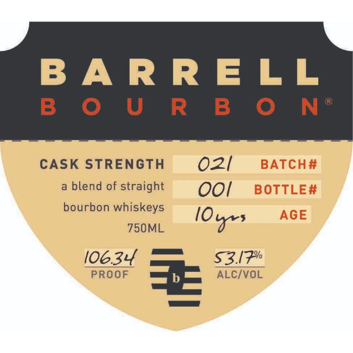 Barrell Bourbon Batch 21 Bourbon Barrell Craft Spirits