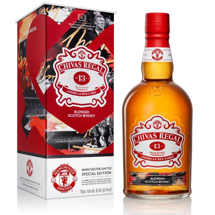 Chivas Regal 13 Year Old Manchester United Special Edition Scotch Chivas Regal