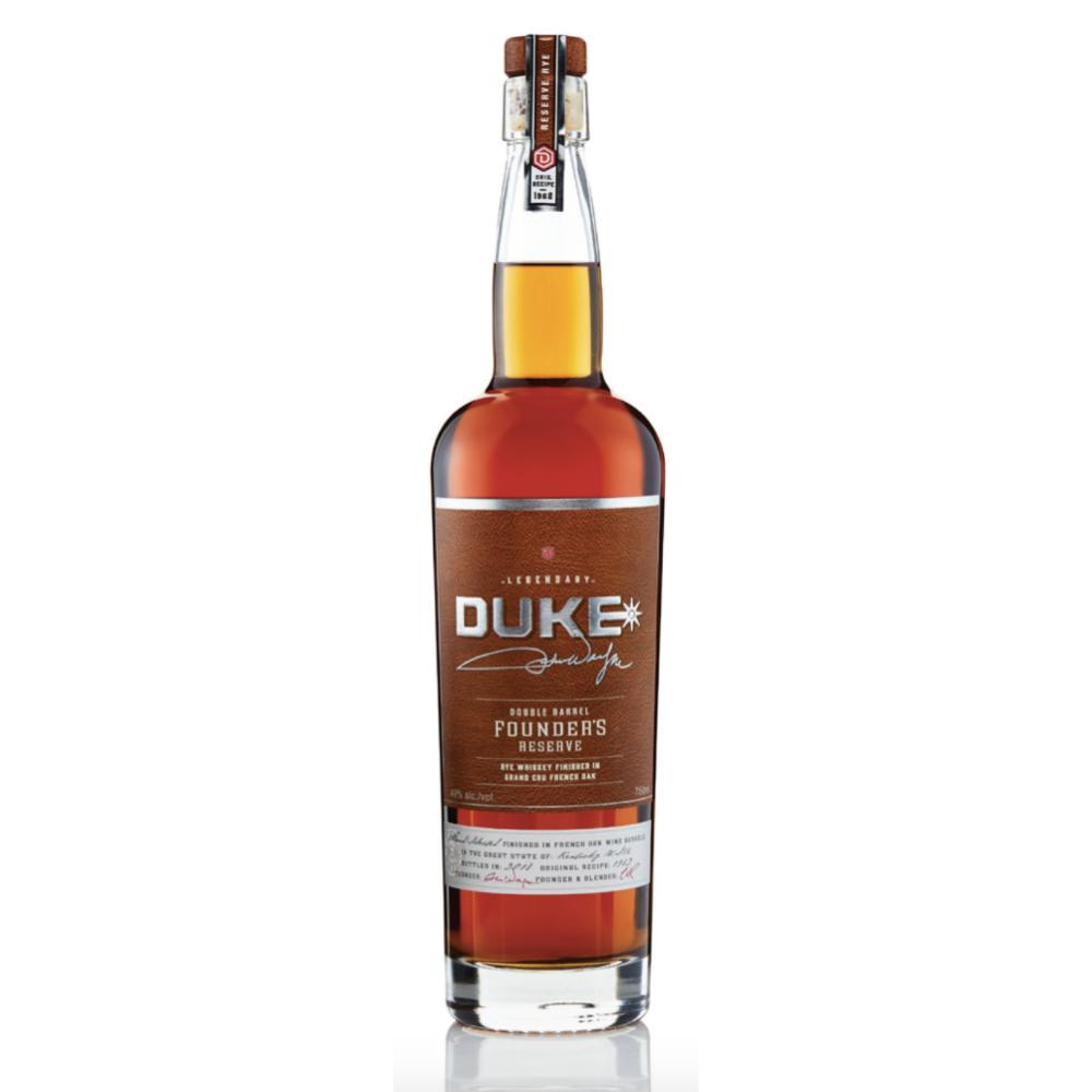 Duke Double Barrel Founder's Reserve Rye Rye Whiskey Duke Bourbon