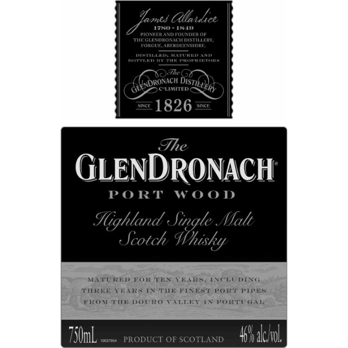 Glendronach Port Wood Scotch Glendronach