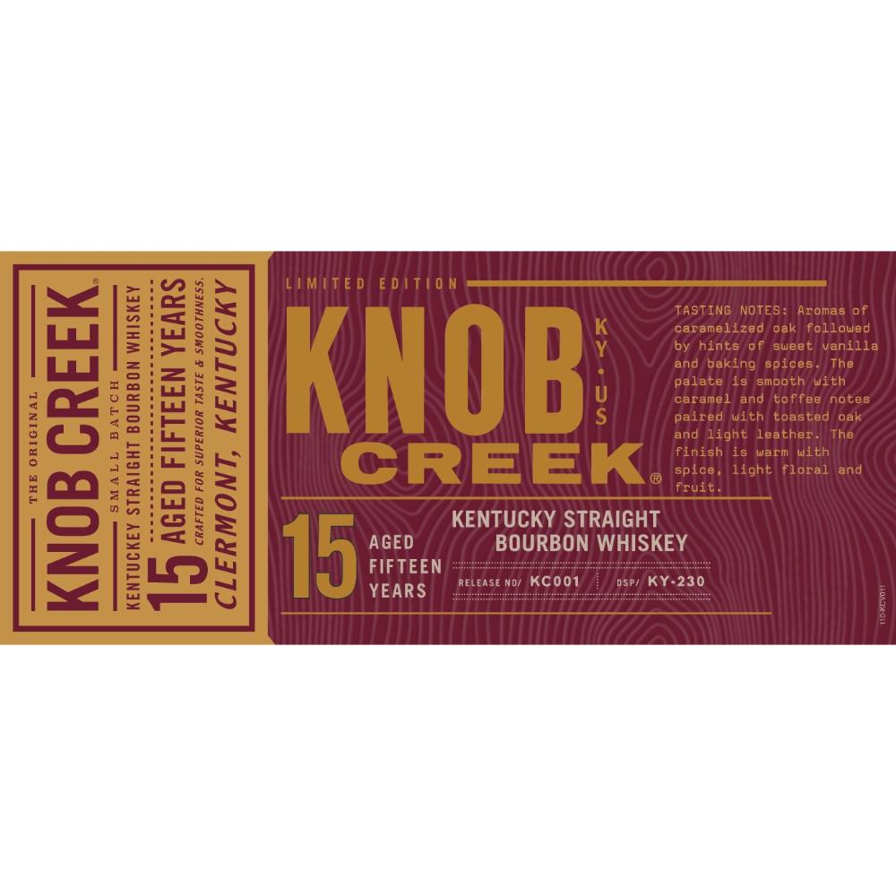 Knob Creek 15 Year Old Bourbon Knob Creek
