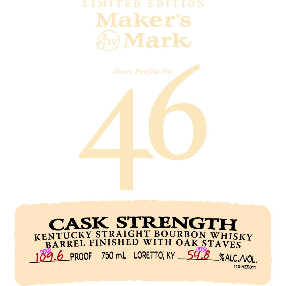 Maker's Mark 46 Cask Strength Bourbon Maker's Mark
