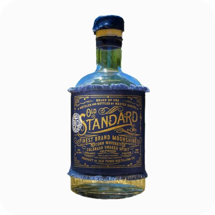 Old Standard Organic Corn Whiskey 'Moonshine' Moonshine Old Town Distilling