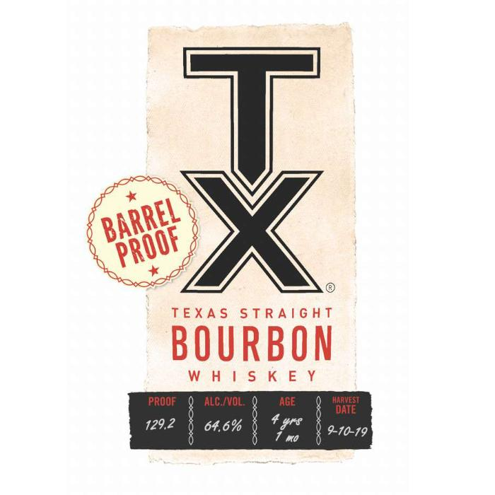 TX Barrel Proof Bourbon Bourbon TX Whiskey