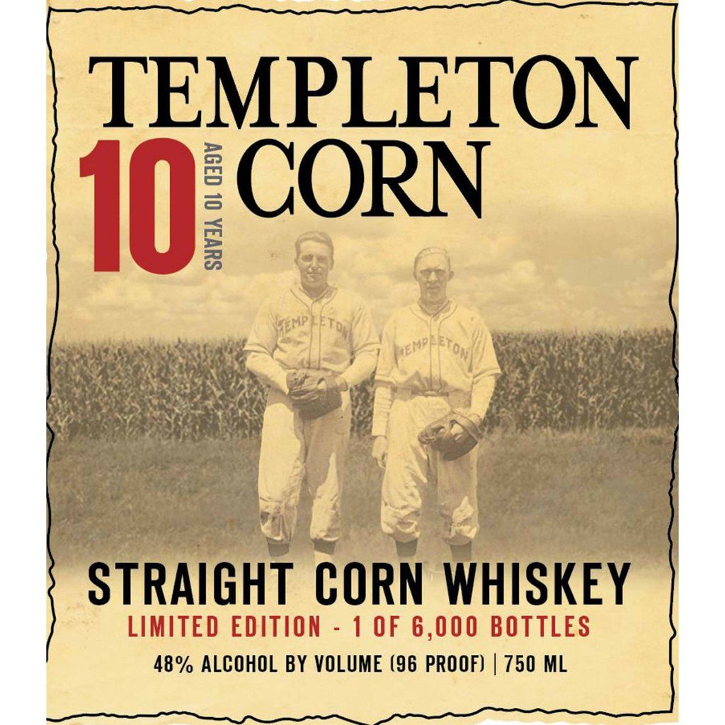 Templeton Corn Whiskey 10 Year Old American Whiskey Templeton Rye