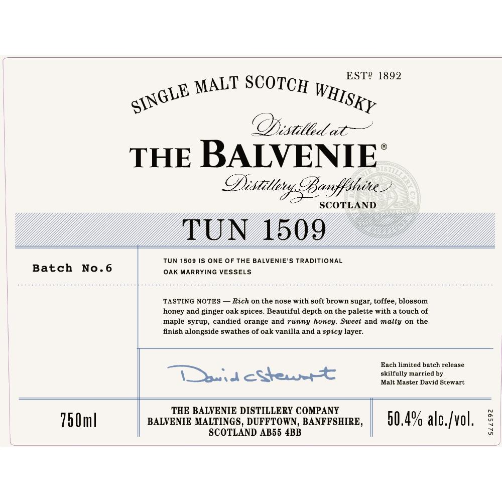 The Balvenie Tun 1509 Batch 6 Scotch The Balvenie