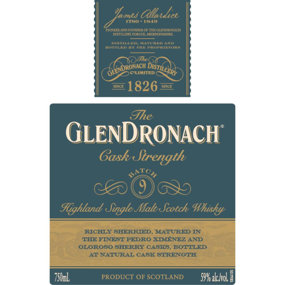 The Glendronach Cask Strength Batch 9 Scotch Glendronach