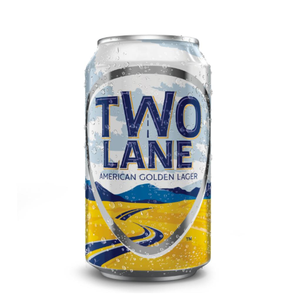 Two Lane American Golden Lager Beer Two Lane