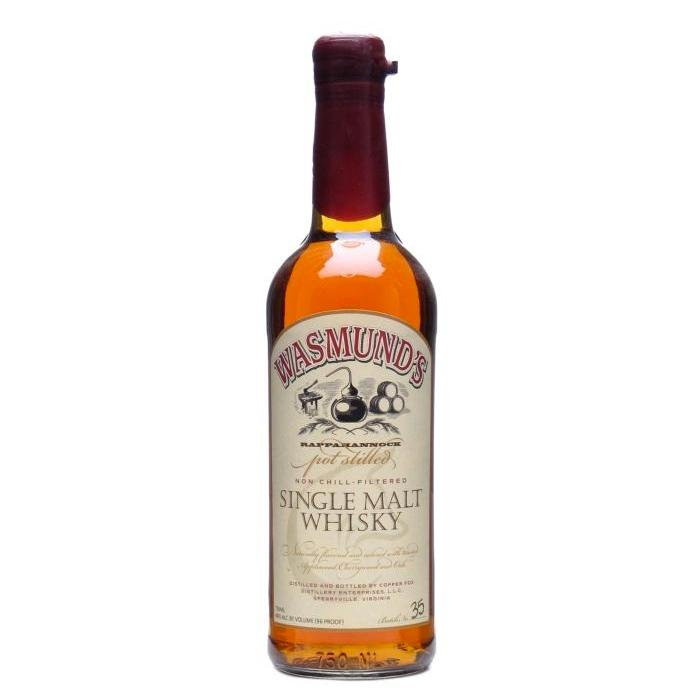 Wasmund's Single Malt Whisky Single Malt Whiskey Copper Fox Distillery