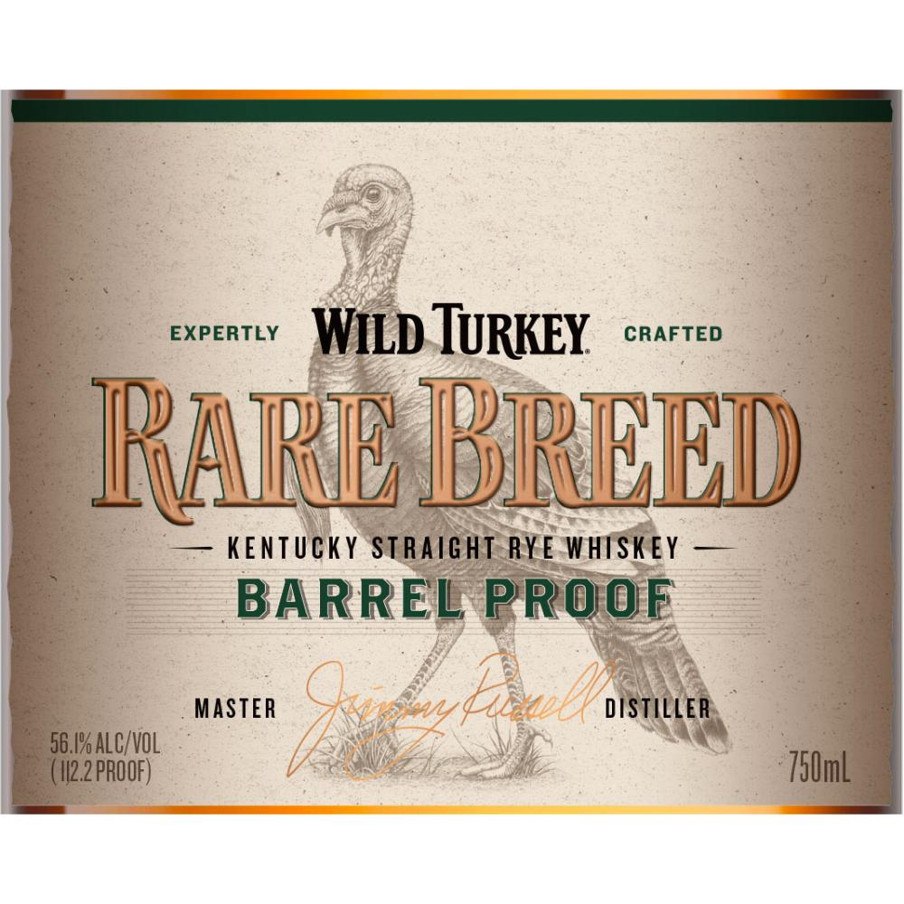 Wild Turkey Rare Breed Barrel Proof Rye Rye Whiskey Wild Turkey