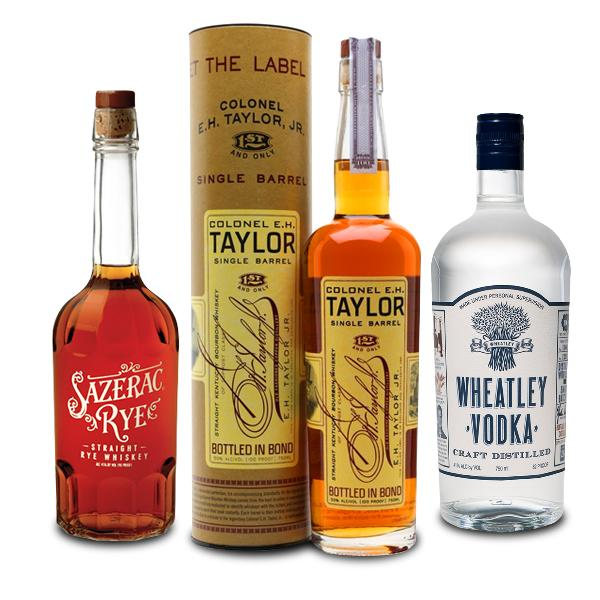 Colonel E.H Taylor Single Barrel Exclusive Store Pick + Wheatly Vodka + Sazerac Rye Kentucky Straight Bourbon Whiskey Colonel E.H. Taylor