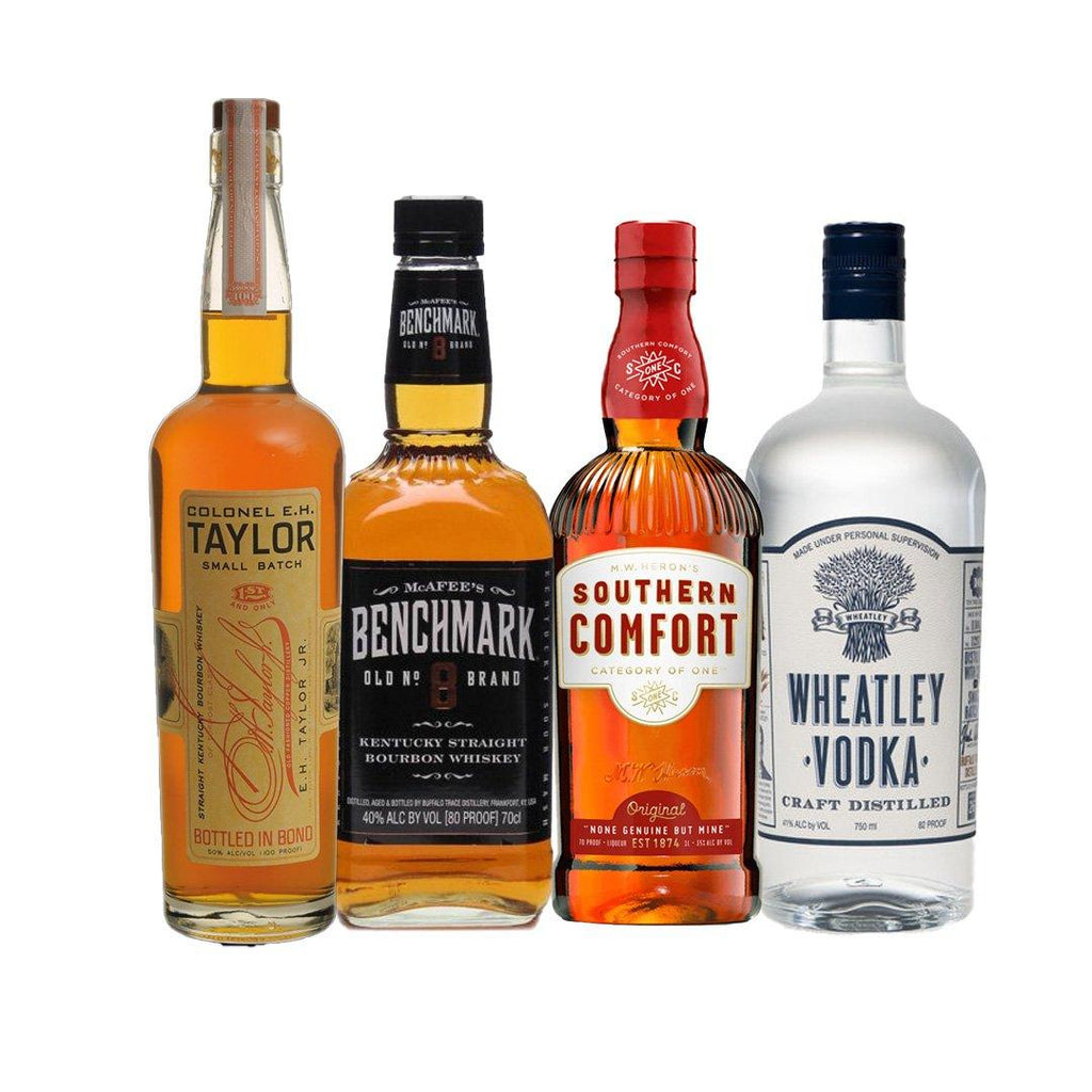 Colonel E.H Taylor Small Batch, Benchmark Bourbon, Wheatley Vodka, Southern Comfort 70 Proof Special Colonel E.H Taylor Small Batch, Benchmark Bourbon, Wheatley Vodka, Southern Comfort 70 Proof Special Sip Whiskey