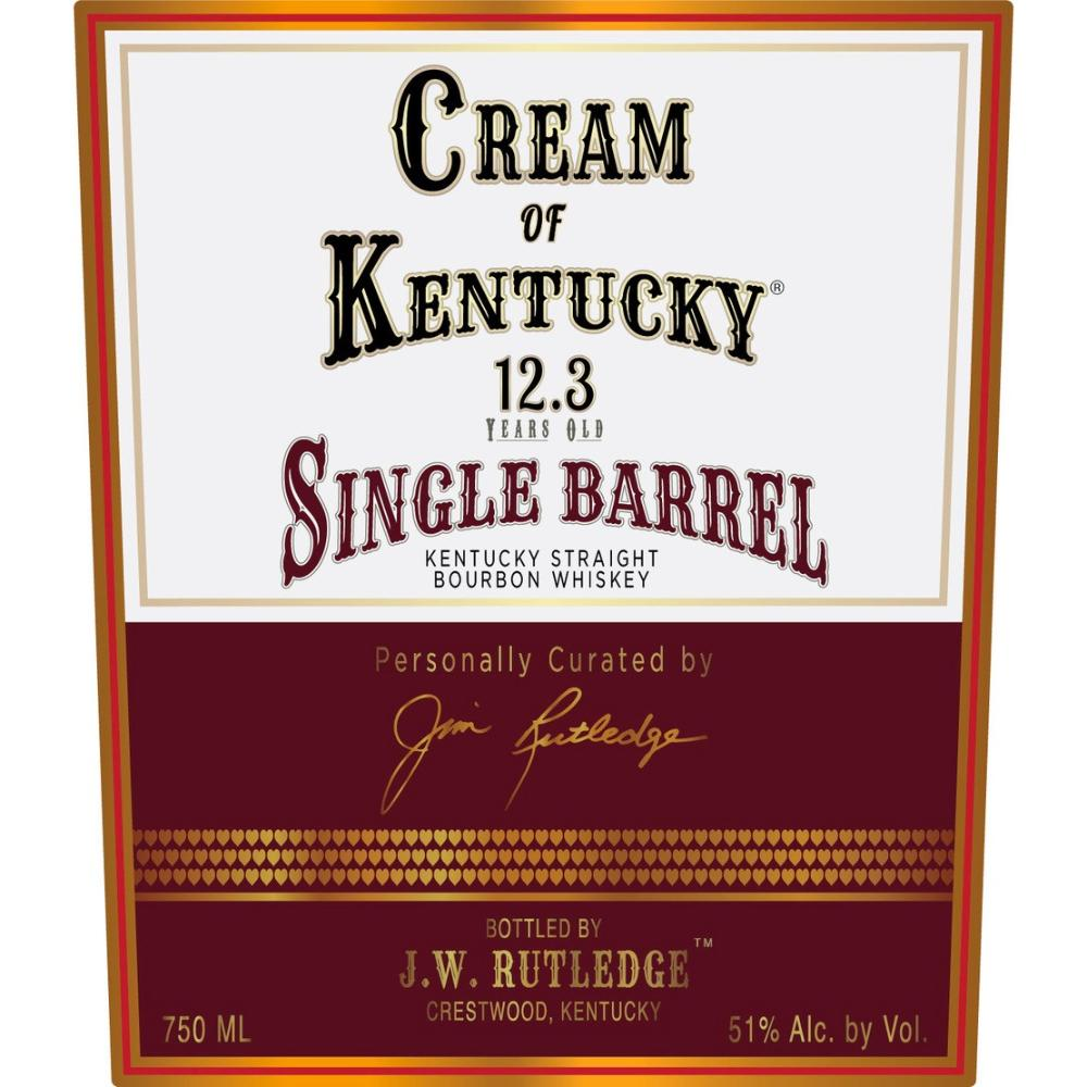 Cream Of Kentucky Bourbon 12.3 Year Old Single Barrel Bourbon Bourbon Cream Of Kentucky