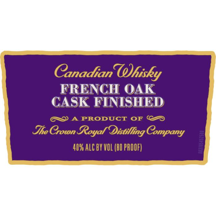 Crown Royal French Oak Cask Finished Canadian Whisky Crown Royal