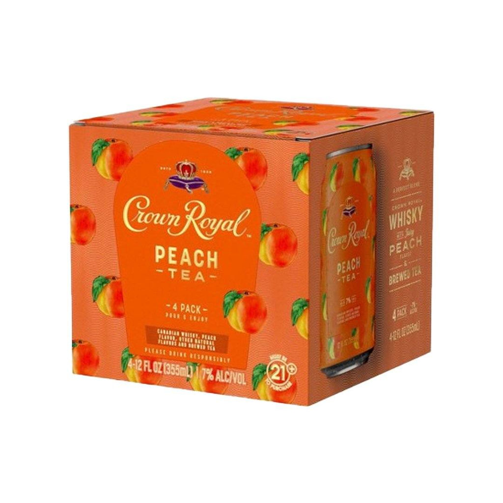 Crown Royal Peach Tea 4pk Cans Canned Cocktails Crown Royal