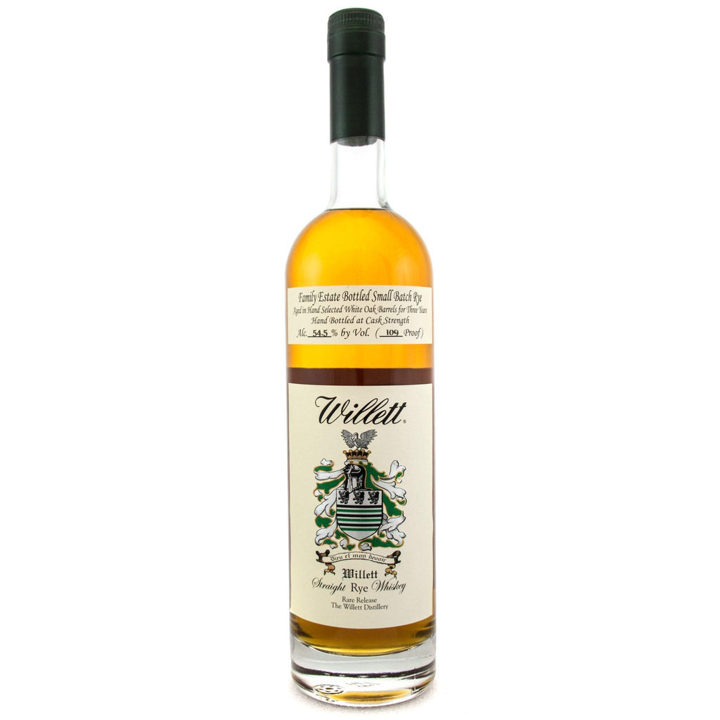 Willett Family Estate Bottled Single-Barrel 3 Year Old Straight Rye Whiskey Rye Whiskey Willett Distillery