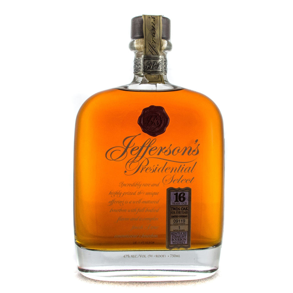 Jefferson's Presidential Select 16 Year Old Bourbon Jefferson's