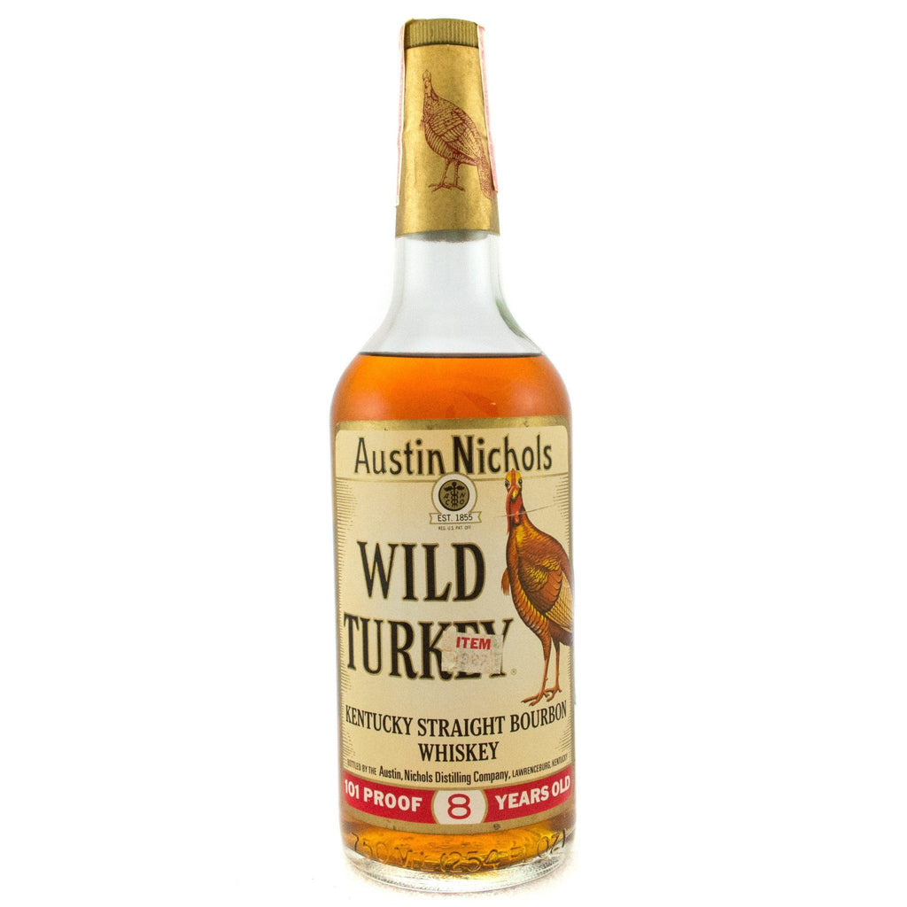 Wild Turkey 8 Years Old 1970's Era Excellent Tax Strip Bourbon Wild Turkey
