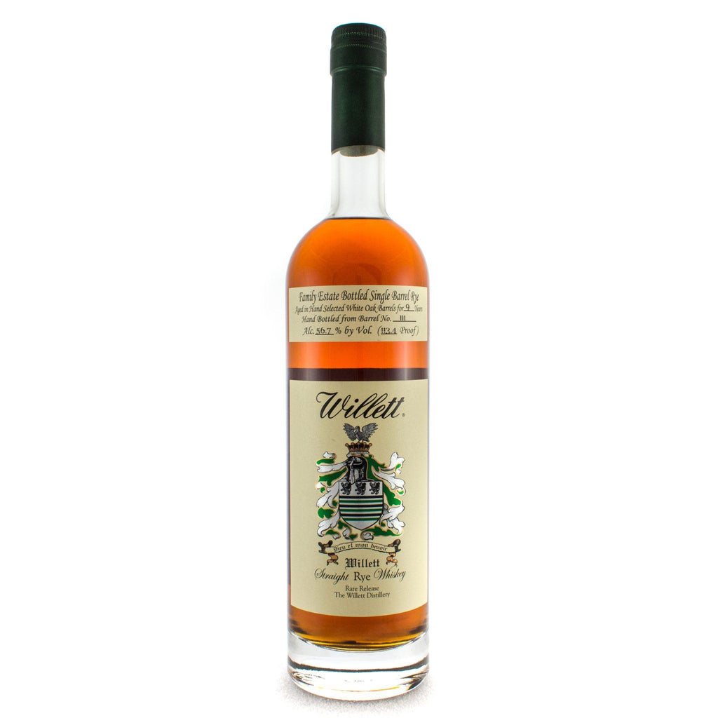 Willett Family Estate Bottled 9 Year Old Barrel # 111 Rye Whiskey Willett Distillery