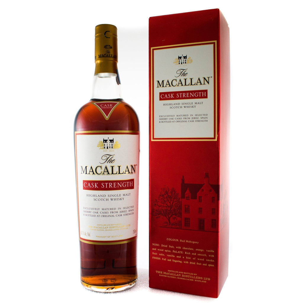 The Macallan Cask Strength Scotch The Macallan