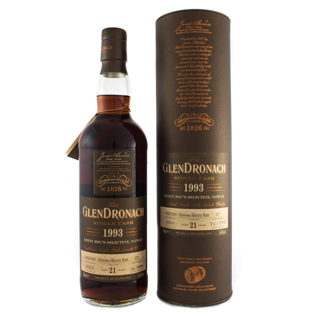 1993 Glendronach 21 Year Single Cask Oloroso Sherry Butt Scotch Glendronach