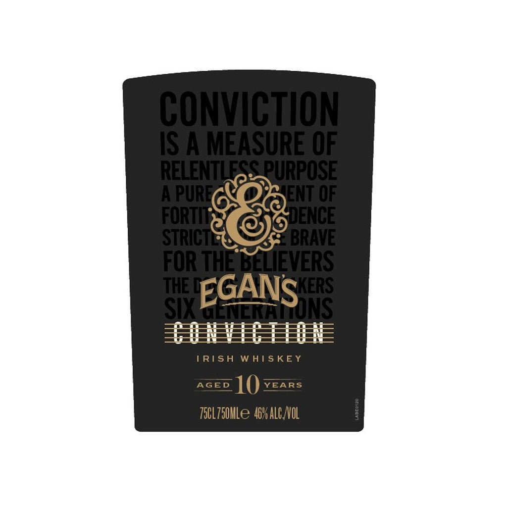 Egan's Conviction 10 Year Old Irish Whiskey Irish whiskey Egan's Irish Whiskey