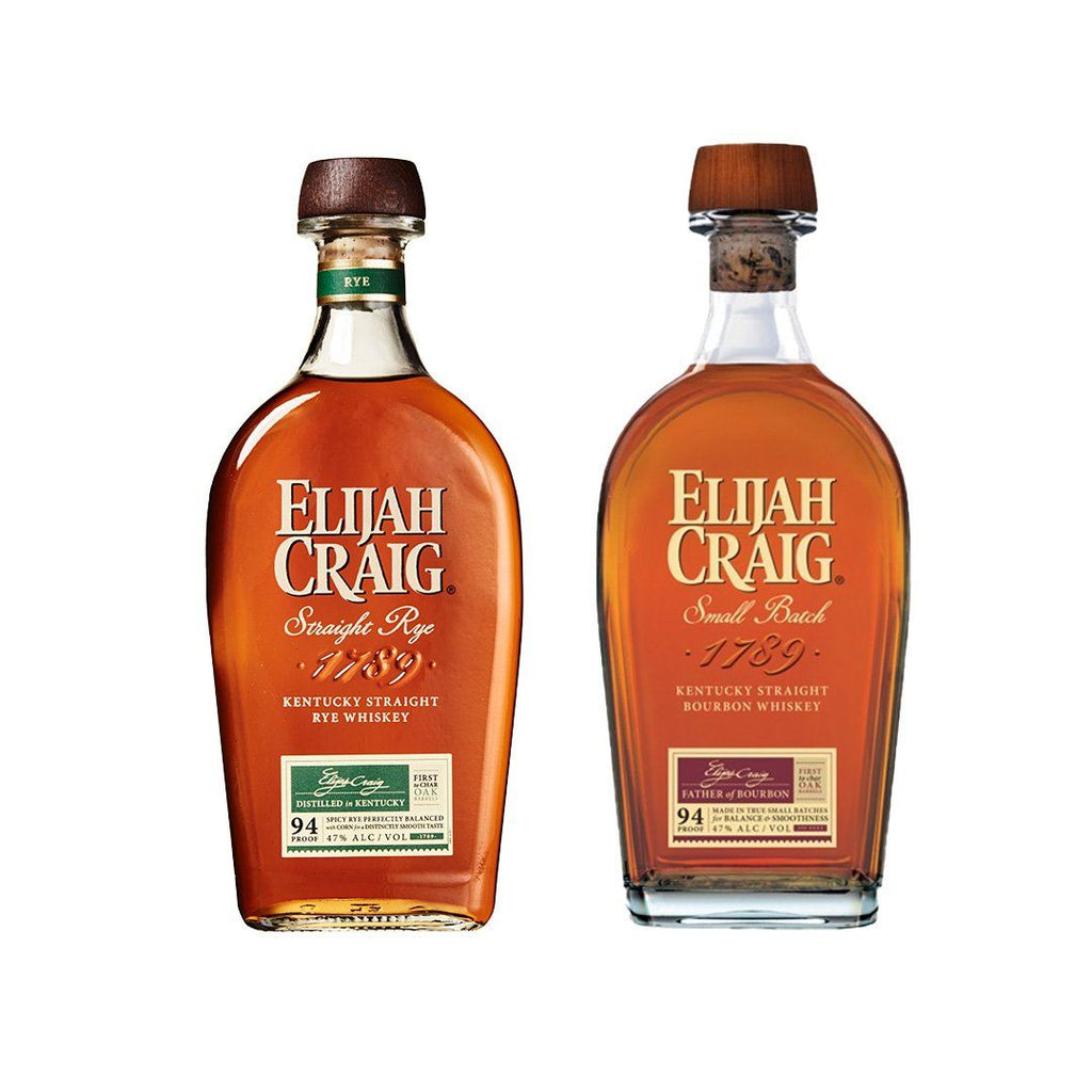 Elijah Craig Straight Rye and Elijah Craig Small Batch Bourbon Elijah Craig Straight Rye and Elijah Craig Small Batch Bourbon Sip Whiskey