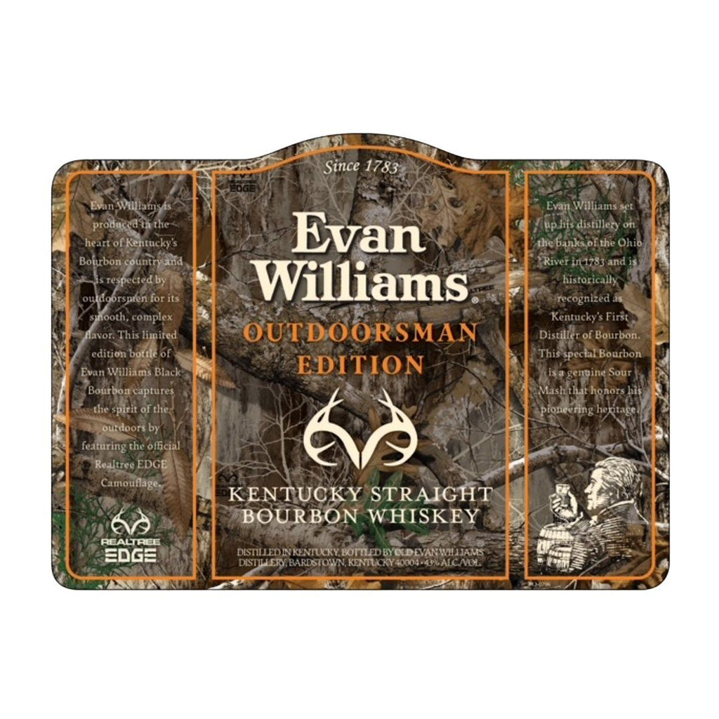 Evan Williams Outdoorsman edition Kentucky Straight Bourbon Whiskey Evan Williams