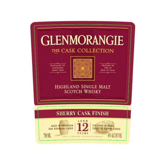 Glenmorangie The Cask Collection 12 Year Old Sherry Cask Finish Scotch Glenmorangie