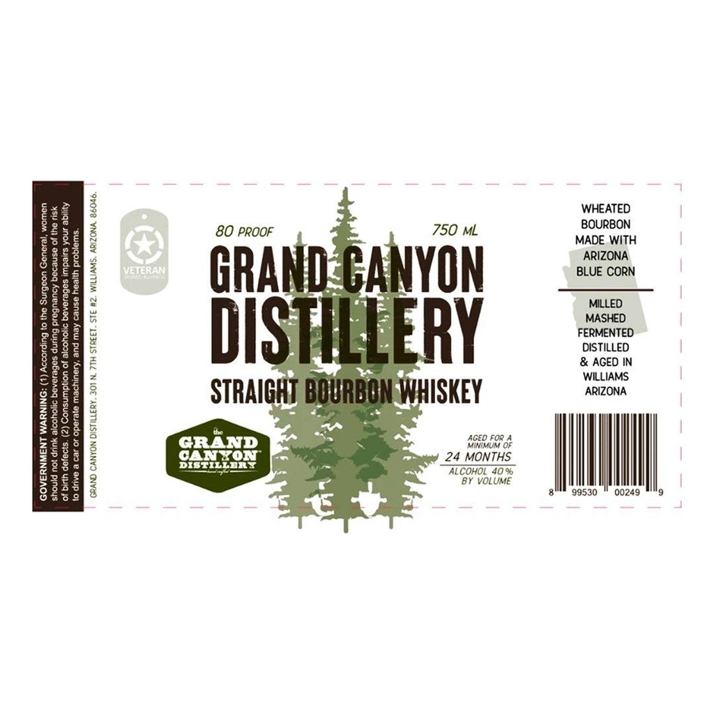 Grand Canyon Distillery Bourbon Whiskey Straight Bourbon Whiskey Grand Canyon Distillery