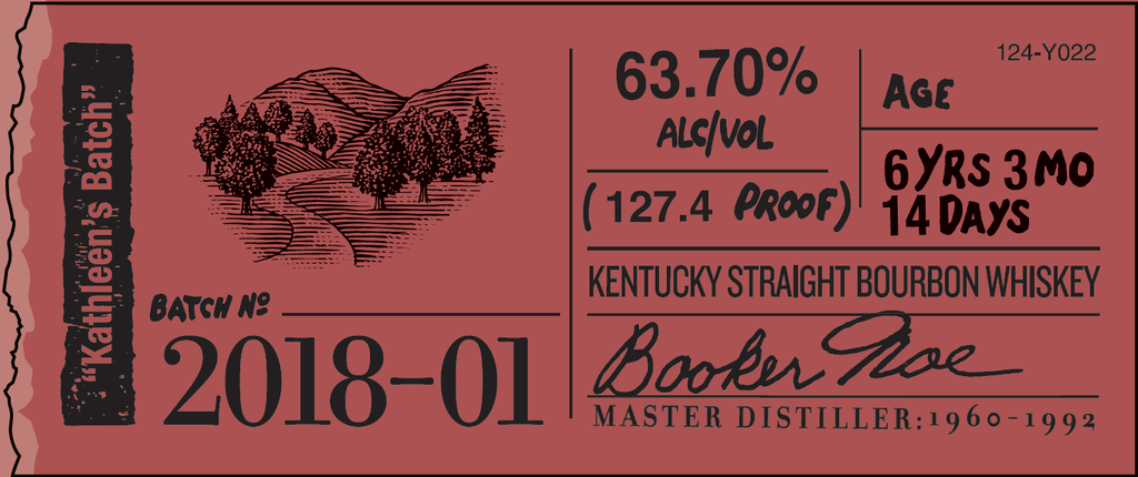 "Booker's Bourbon Batch 2018-1 ""Kathleen's Batch"" Bourbon Booker's"