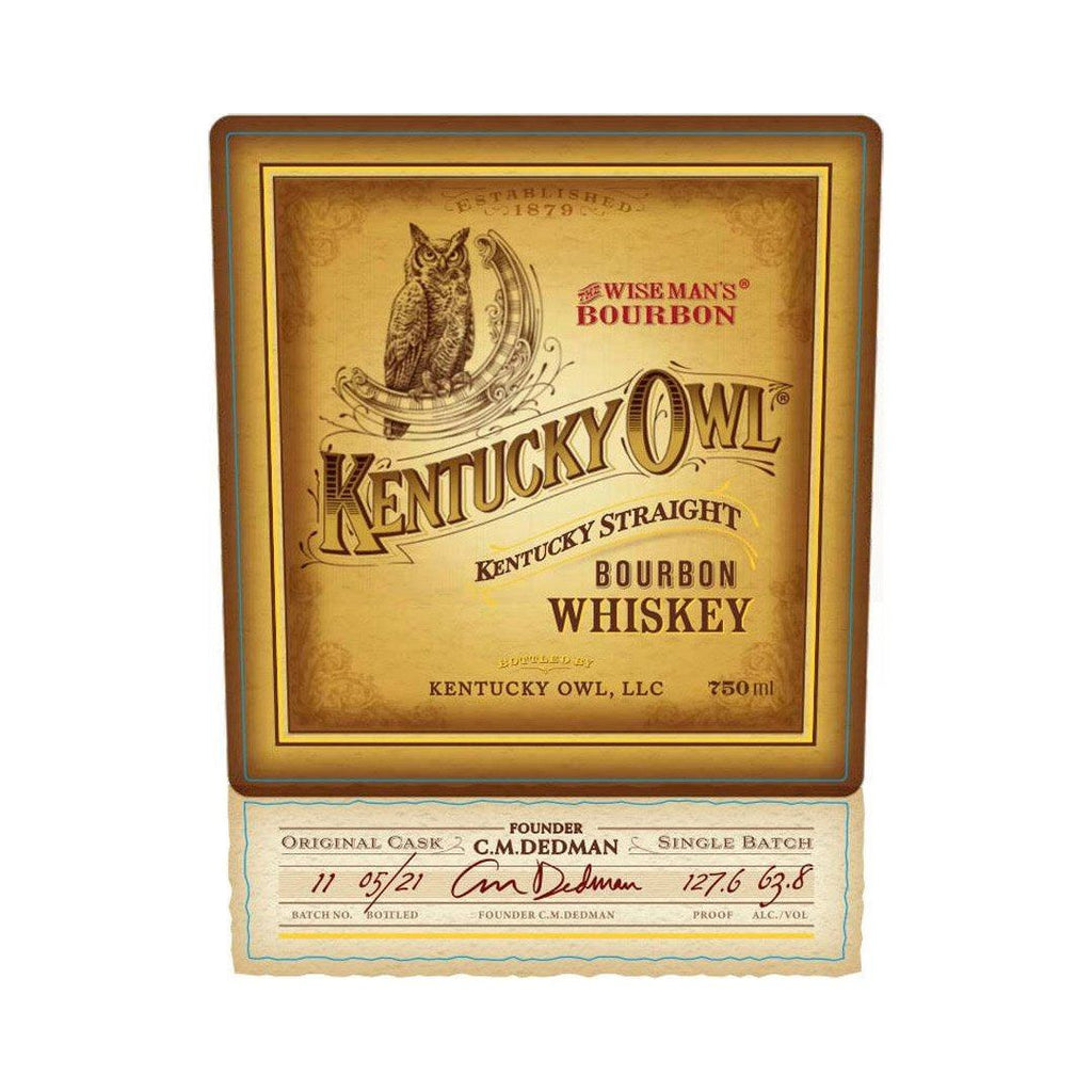 Kentucky Owl Bourbon Batch 11 Kentucky Straight Bourbon Whiskey Kentucky Owl