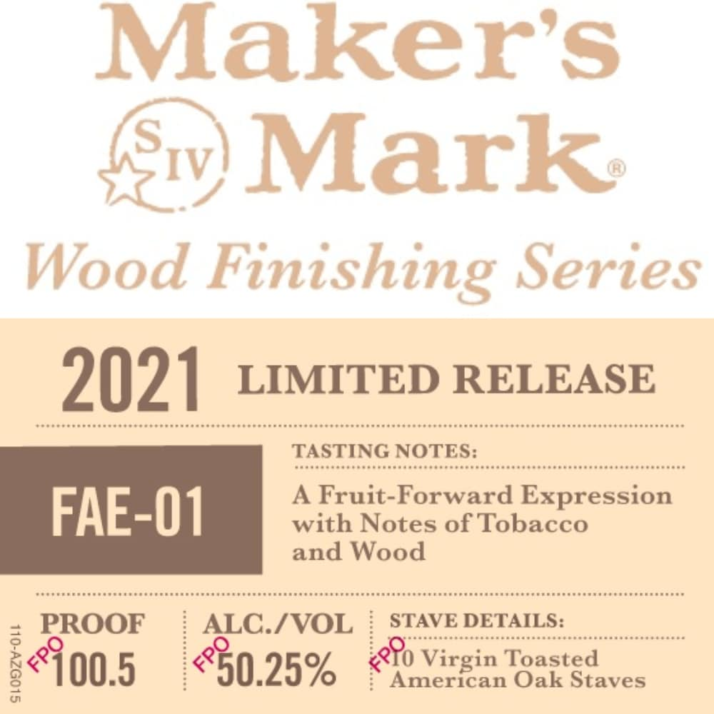 Maker's Mark Wood Finishing Series FAE-01 Bourbon Maker's Mark