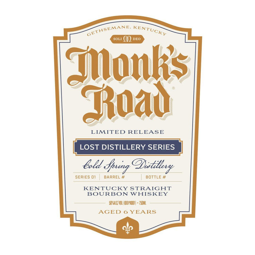 Monk's Road 6 Year Lost Distillery Series Kentucky Straight Bourbon Whiskey Monk's Road