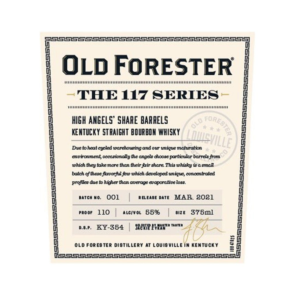 Old Forester The 117 Series Kentucky Straight Bourbon Whiskey Old Forester