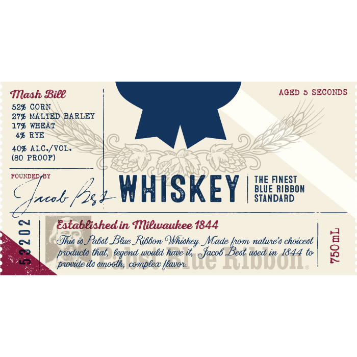Pabst Blue Ribbon Whiskey American Whiskey Pabst Blue Ribbon