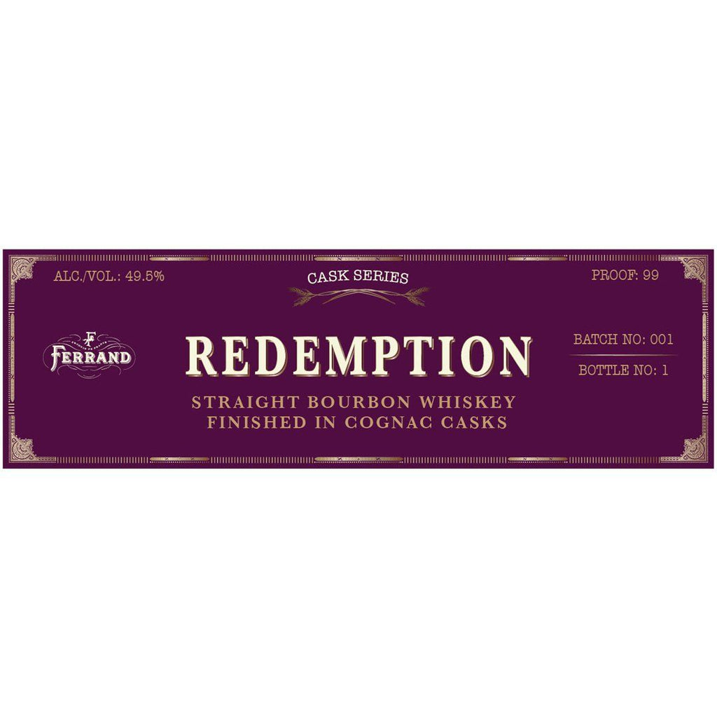 Redemption Bourbon Finished In Cognac Cask Straight Bourbon Whiskey Redemption