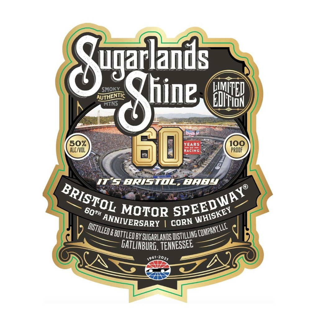 Sugarland's Bristol Motor Speedway 60th Anniversary Edition Corn Whiskey Corn Whiskey Sugarlands Distilling Company
