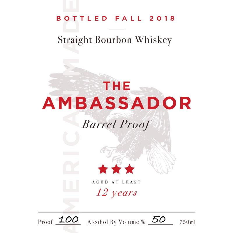 The Ambassador Barrel Proof 12 Year Old Bourbon The Ambassador