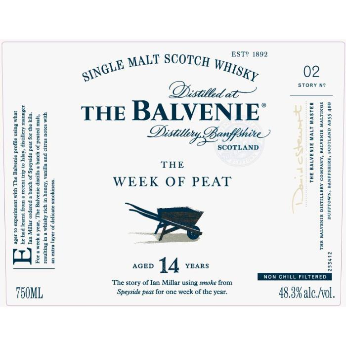 The Balvenie The Week Of Peat 14 Year Old Scotch The Balvenie