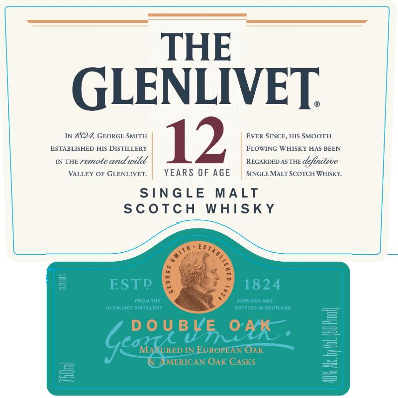 The Glenlivet 12 Year Old Double Oak Scotch The Glenlivet