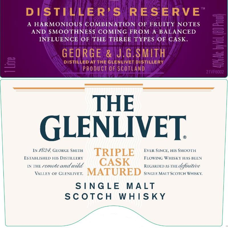 The Glenlivet Distiller's Reserve Triple Cask Matured Scotch The Glenlivet