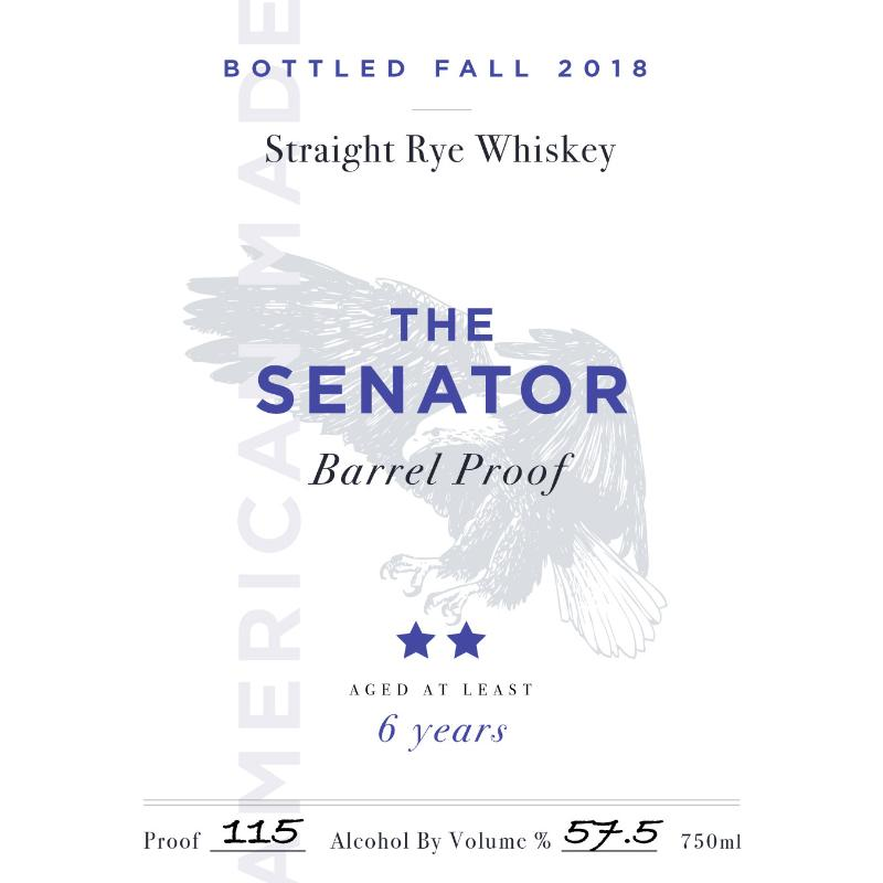The Senator Barrel Proof 6 Year Old Bourbon The Senator