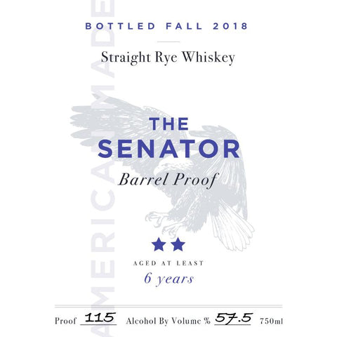 The Senator Barrel Proof 6 Year Old