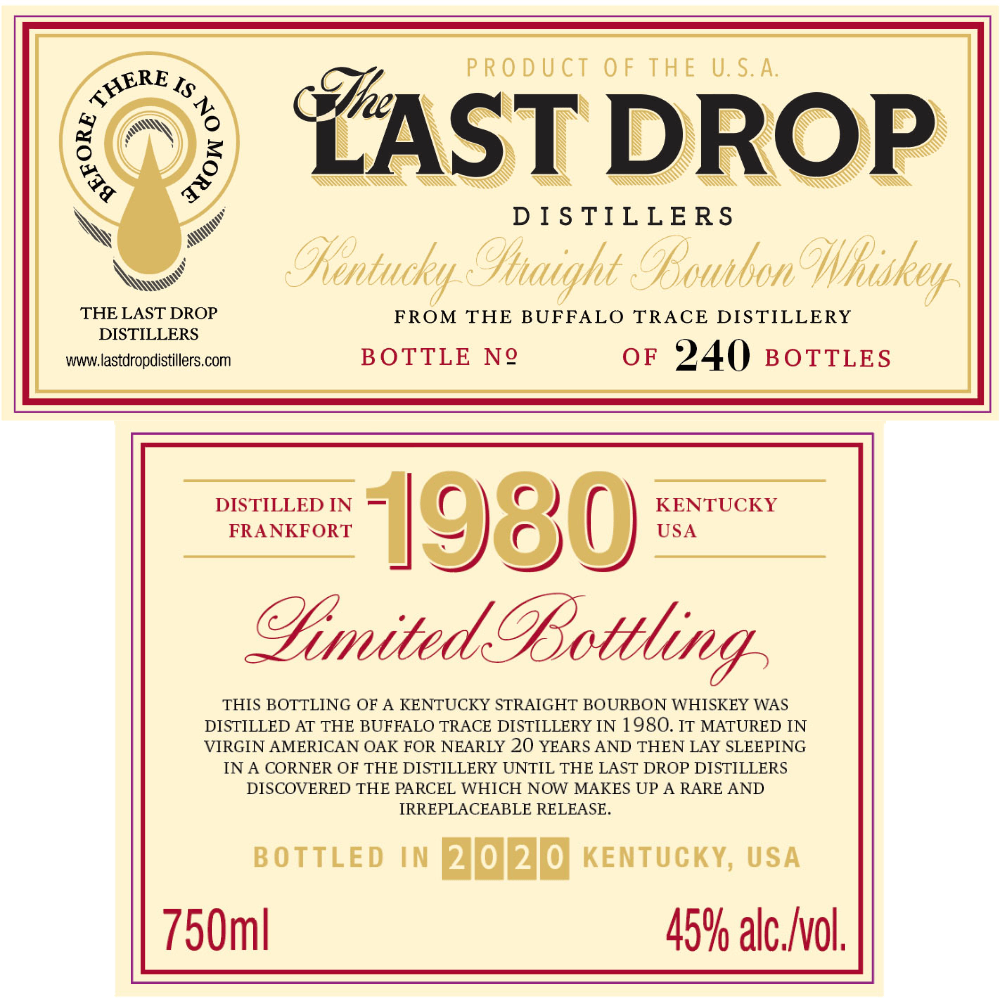 The Last Drop XIX 1980 Buffalo Trace Bourbon The Last Drop Distillers