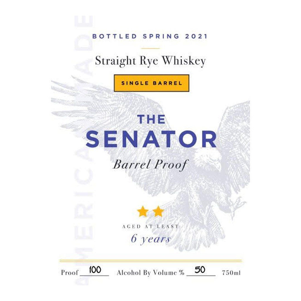 The Senator Single Barrel 6 Year Rye 2021 Straight Rye Whiskey The Senator