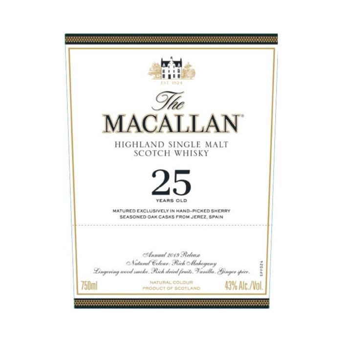 The Macallan 25 Year Old Sherry Oak 2019 Release Scotch The Macallan