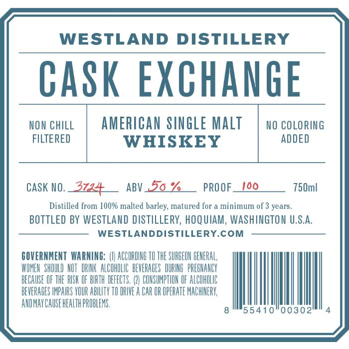Westland Cask Exchange American Whiskey Westland