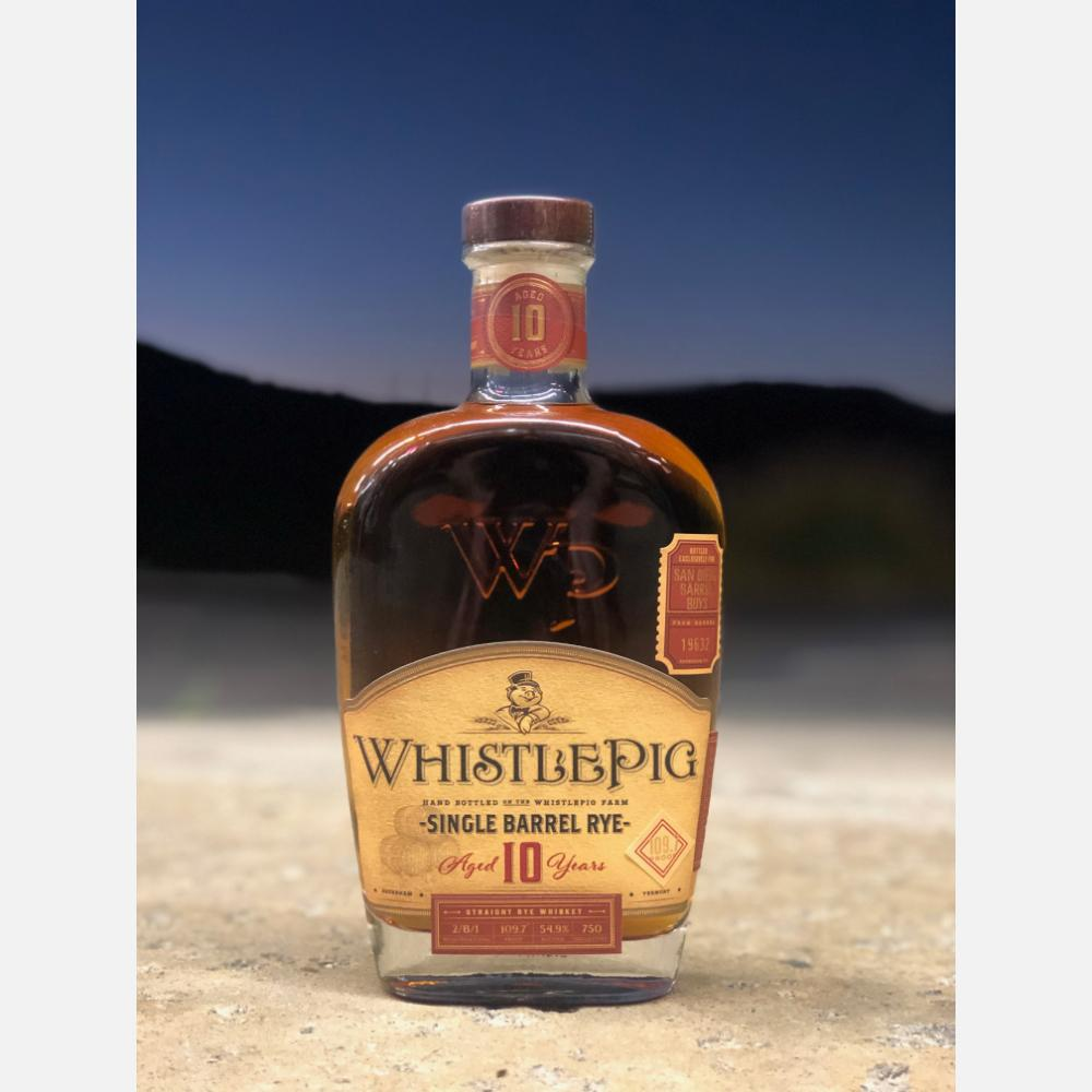"WhistlePig 10 Year Old ""San Diego Barrel Boys"" Single Barrel Rye Whiskey Rye Whiskey WhistlePig"